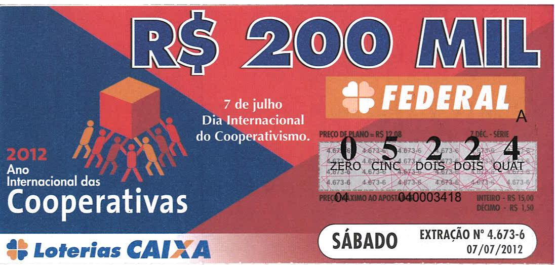 ano internacional II bilhete Loteria 09 07 2012