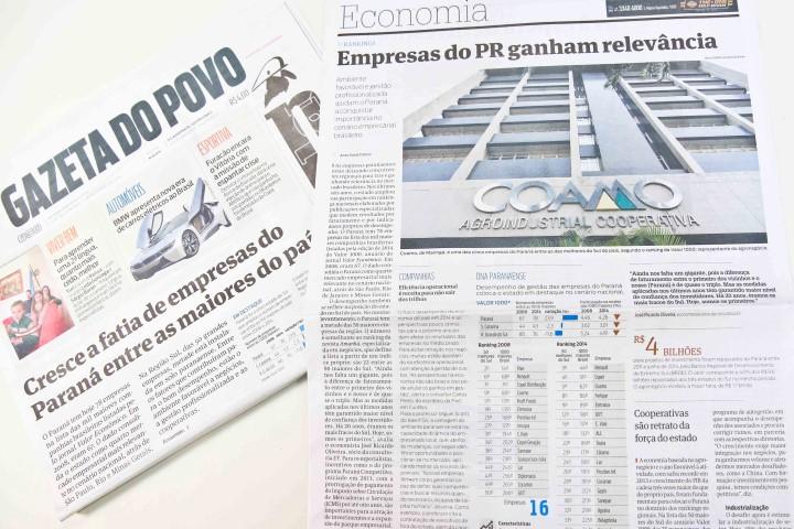 MÍDIA  Gazeta do Povo destaca desempenho das cooperativas do PR b9df68b2dfb33