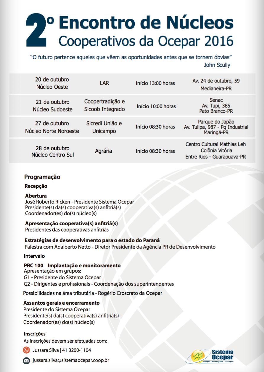 6f407601a ENCONTROS DE NÚCLEOS: Primeiro evento será realizado em Medianeira, na  quinta-feira