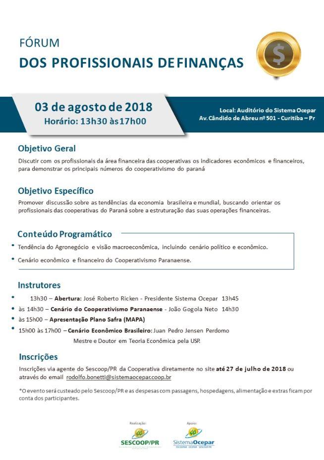06ba1fafc FÓRUM DE FINANÇAS: Inscrições para o evento encerram nesta sexta-feira